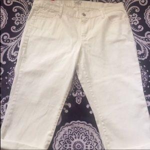 ⬇️White crop pants